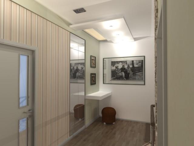Интерьер дома на одну семью, 2 этаж, хол, Рис 3