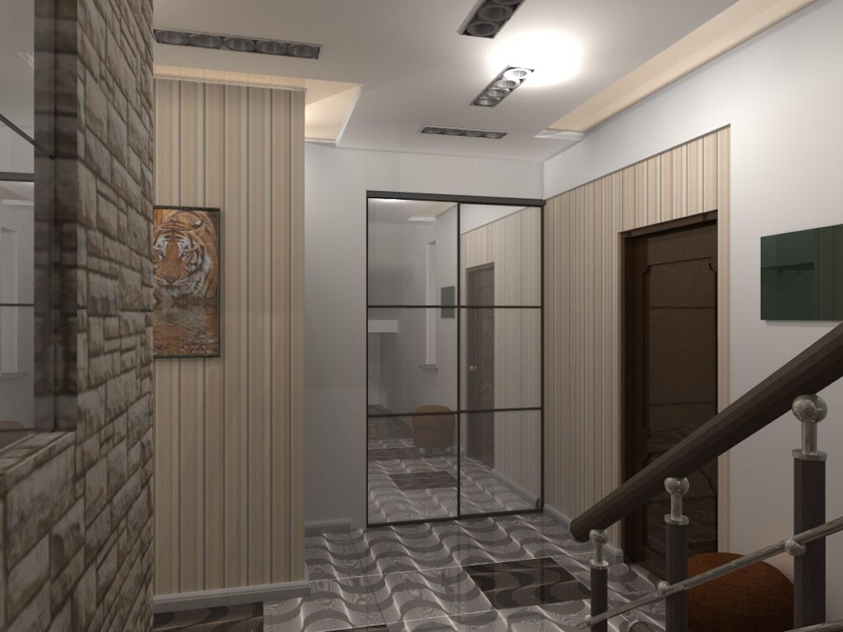 Интерьер дома на одну семью, 2 этаж, хол, Рис 4