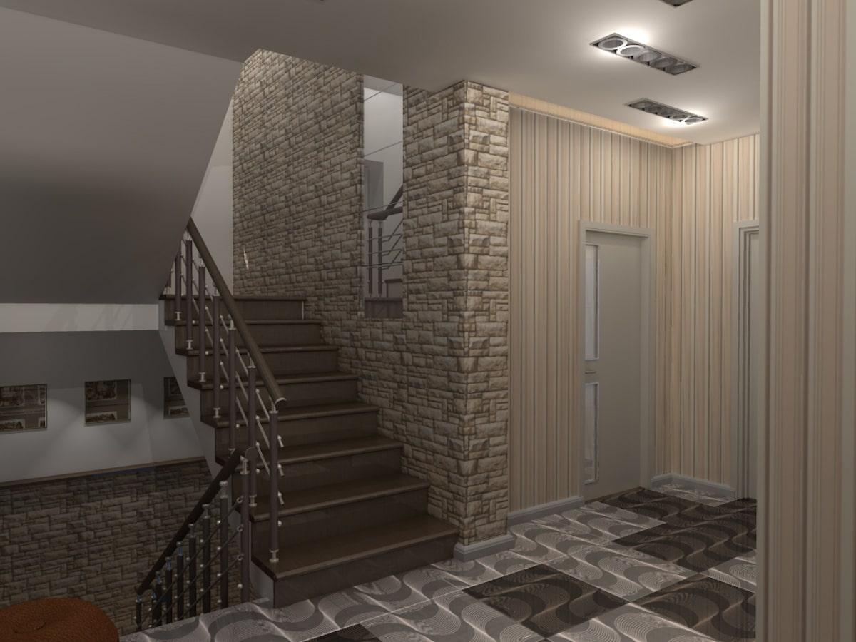 Интерьер дома на одну семью, 2 этаж, хол, Рис 5