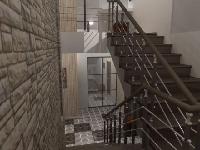 Интерьер дома на одну семью, 2 этаж, хол, Рис 6