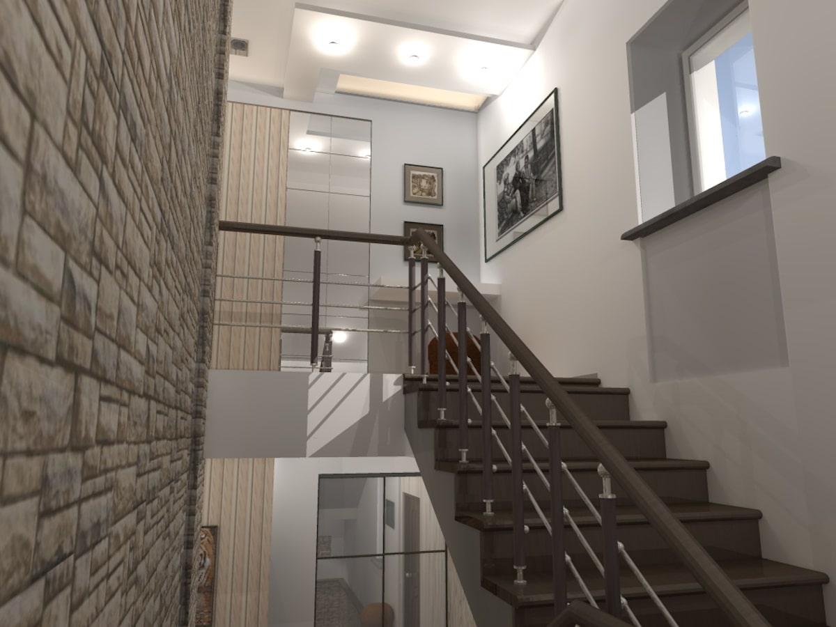 Интерьер дома на одну семью, 2 этаж, хол, Рис 7