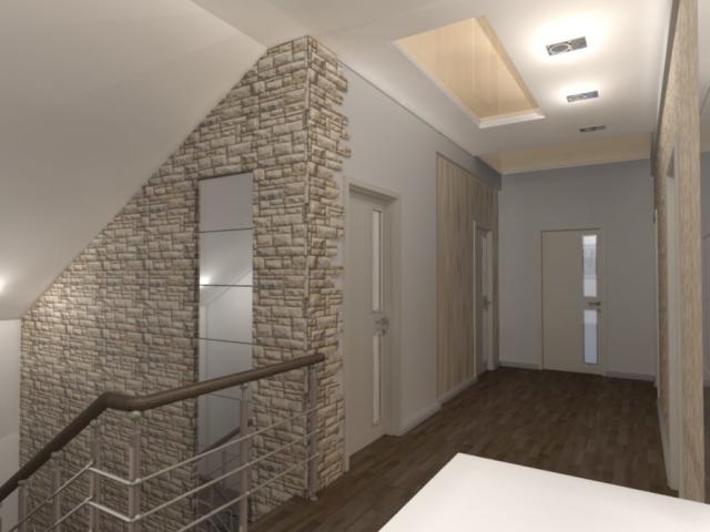 Интерьер дома на одну семью, 2 этаж, хол, Рис 8