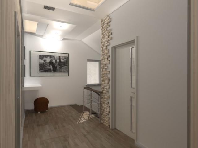 Интерьер дома на одну семью, 2 этаж, хол, Рис 9