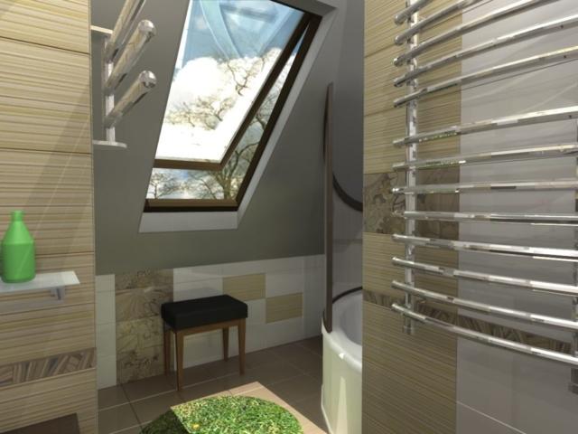 Интерьер дома на одну семью, 2 этаж, санузел, Рис 3