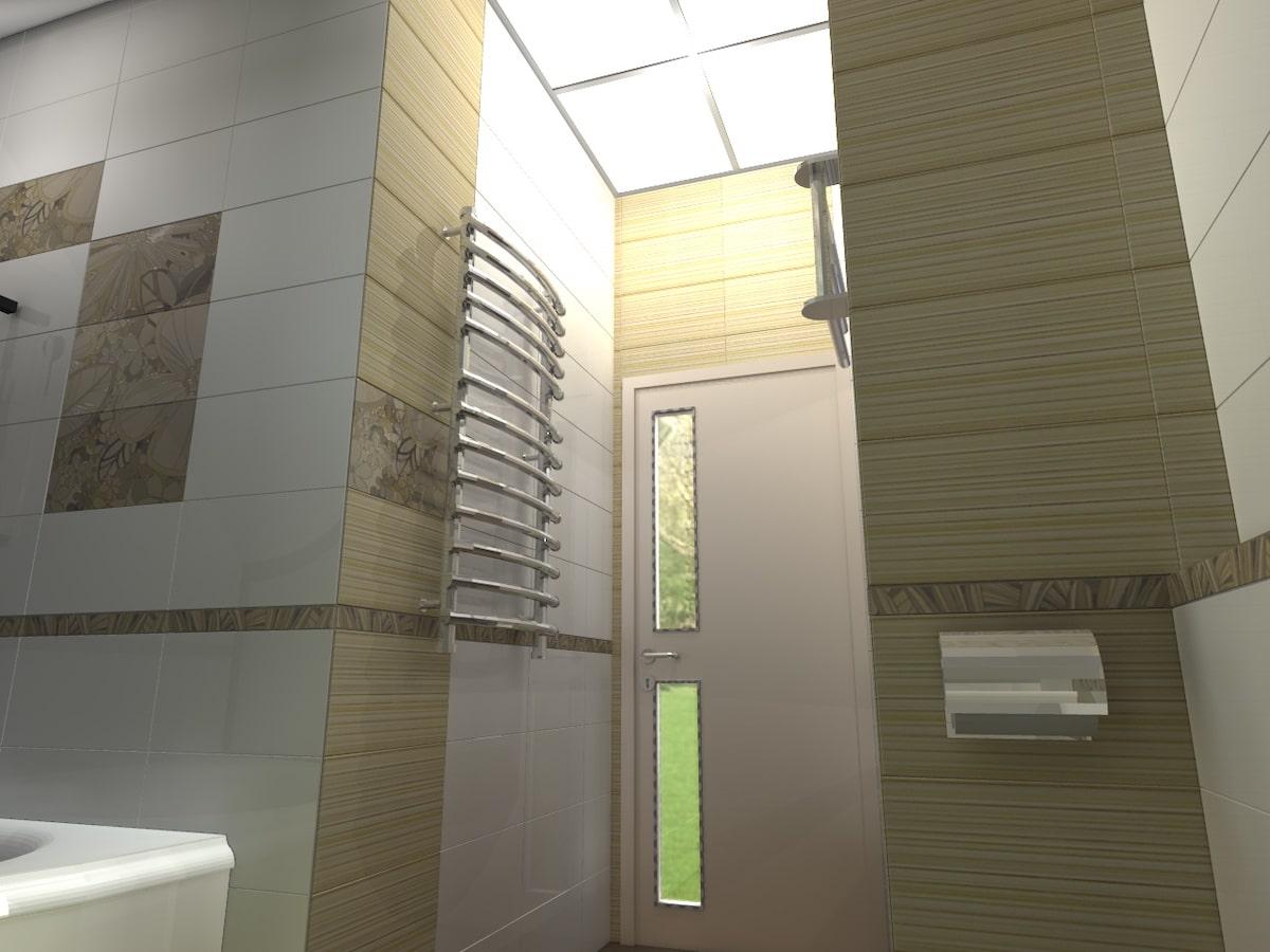 Интерьер дома на одну семью, 2 этаж, санузел, Рис 4