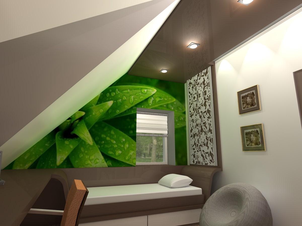Интерьер дома на одну семью, 2 этаж, спальня, Рис 2