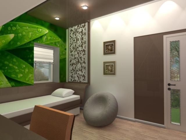 Интерьер дома на одну семью, 2 этаж, спальня, Рис 5