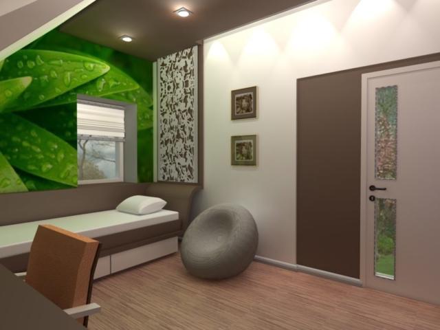 Интерьер дома на одну семью, 2 этаж, спальня, Рис 10