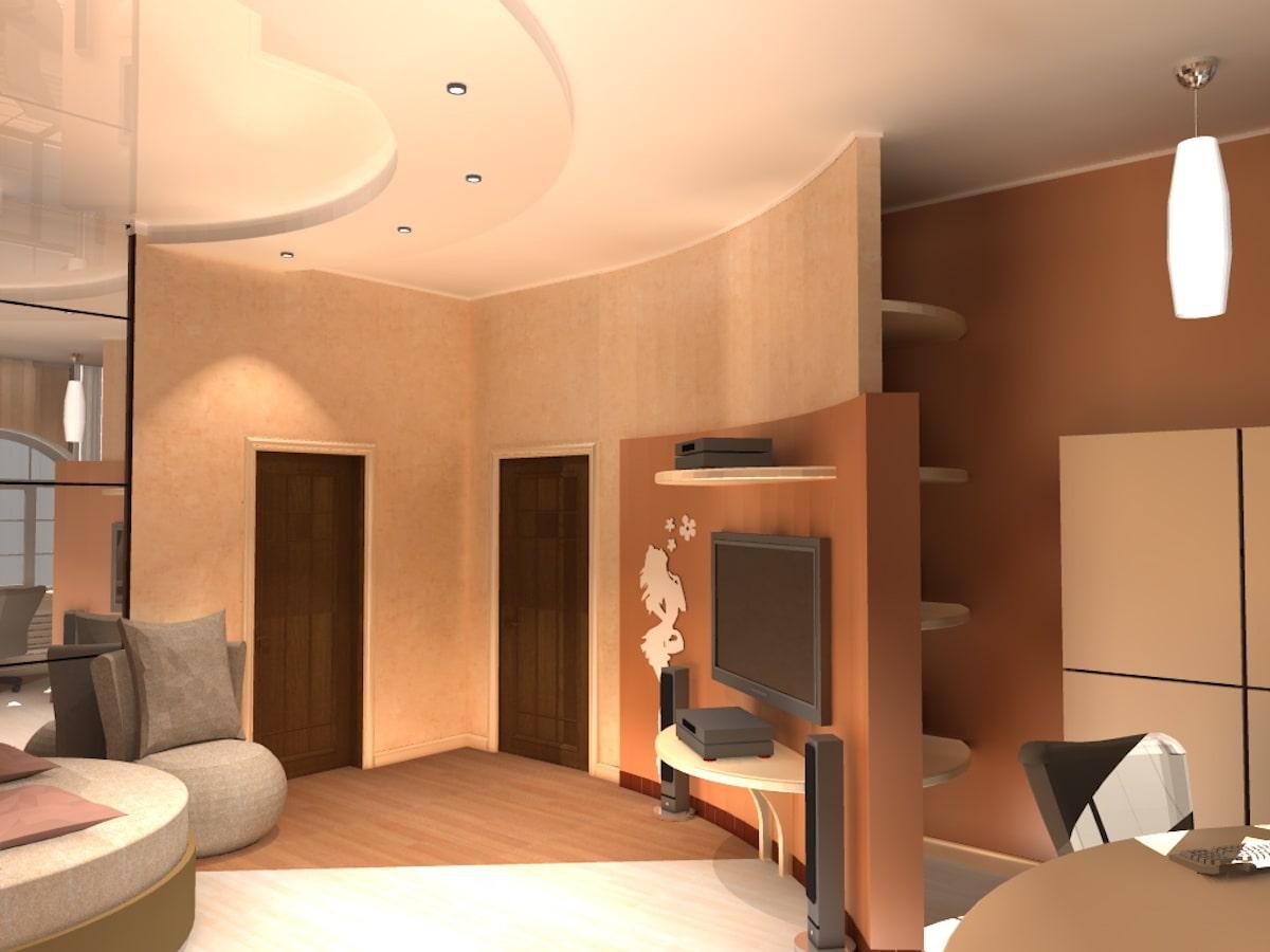 Интерьер коттеджа, 2 этаж, 2 спальня, Рис 1