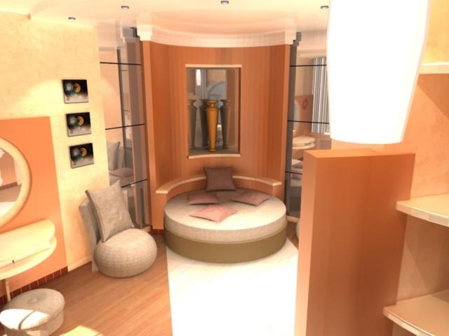 Интерьер коттеджа, 2 этаж, 2 спальня, Рис 2