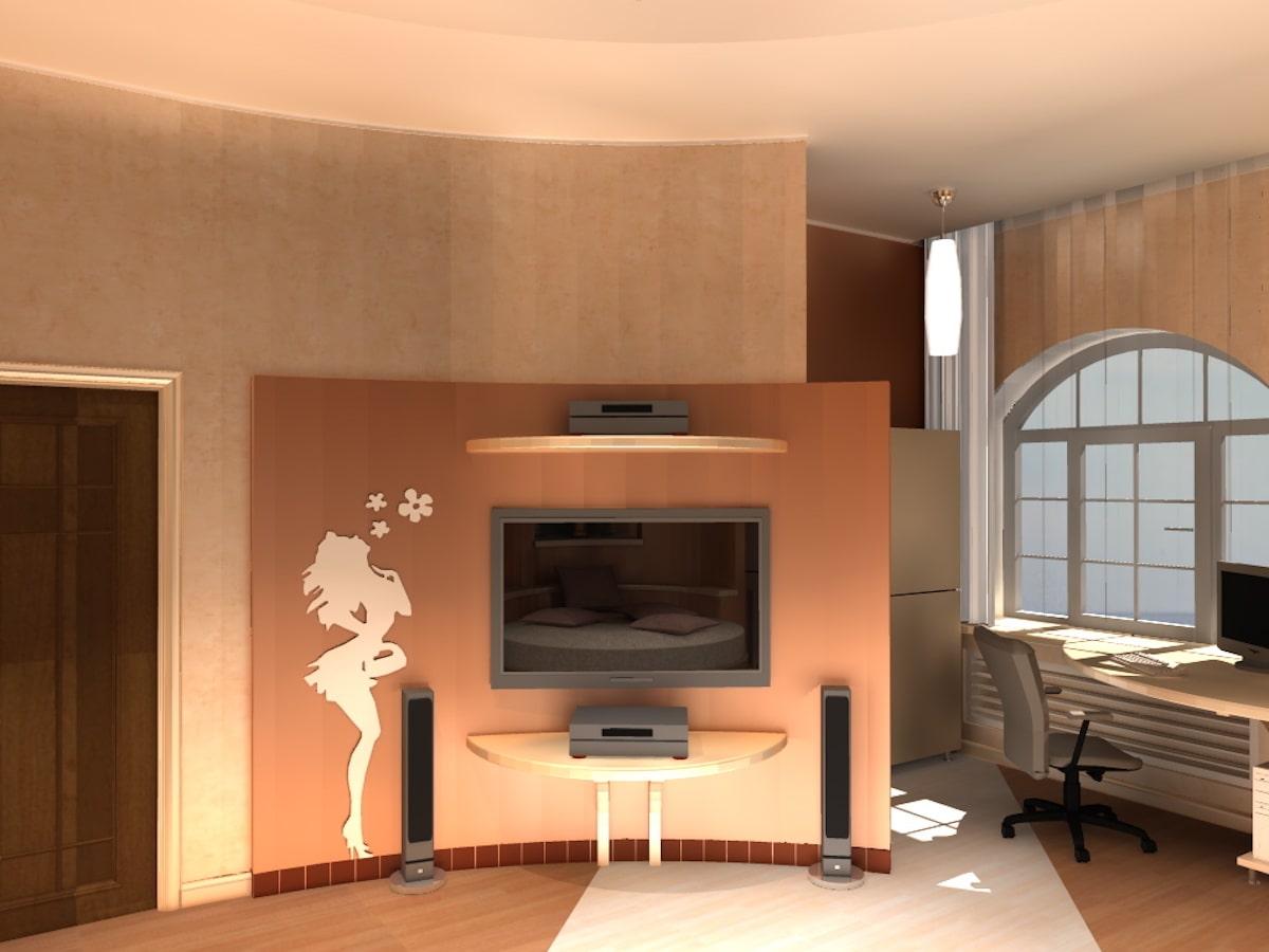 Интерьер коттеджа, 2 этаж, 2 спальня, Рис 3