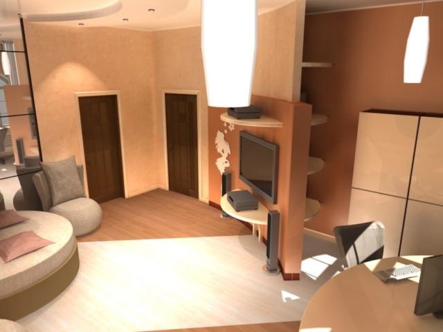 Интерьер коттеджа, 2 этаж, 2 спальня, Рис 4