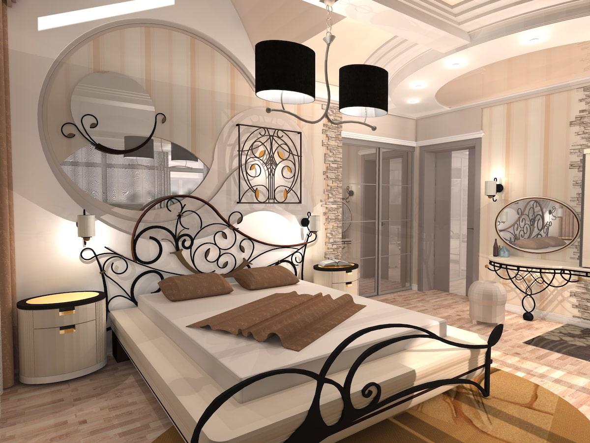 Интерьер коттеджа, 2 этаж, 1 спальня, Рис 3