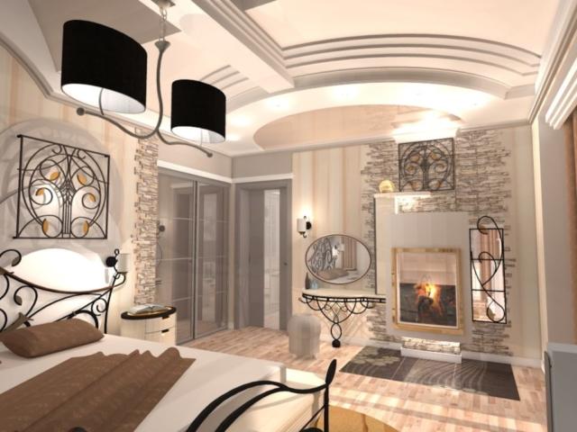Интерьер коттеджа, 2 этаж, 1 спальня, Рис 4
