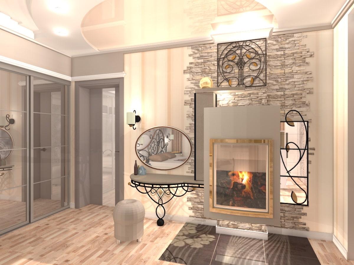Интерьер коттеджа, 2 этаж, 1 спальня, Рис 7