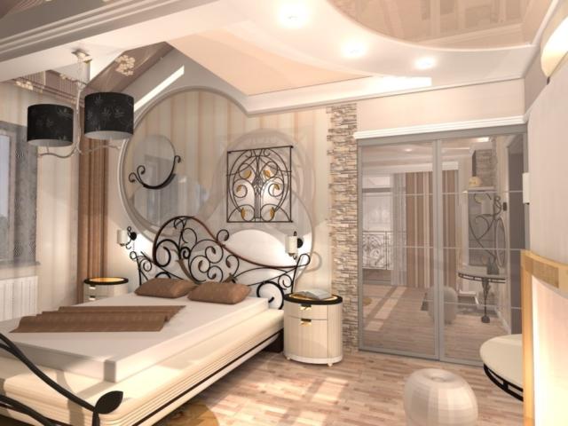 Интерьер коттеджа, 2 этаж, 1 спальня, Рис 8
