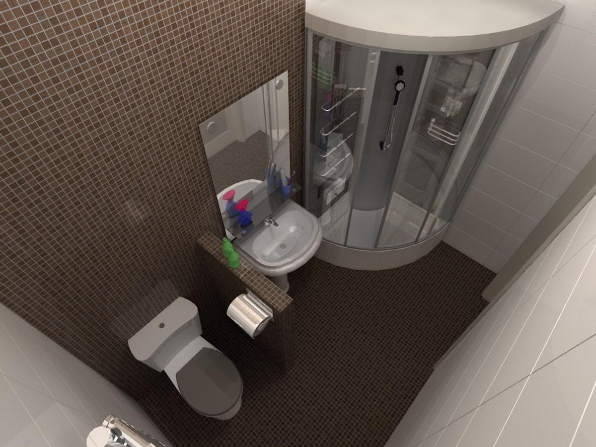 Интерьеры частного дома, 1 этаж, санузел, Рис 2