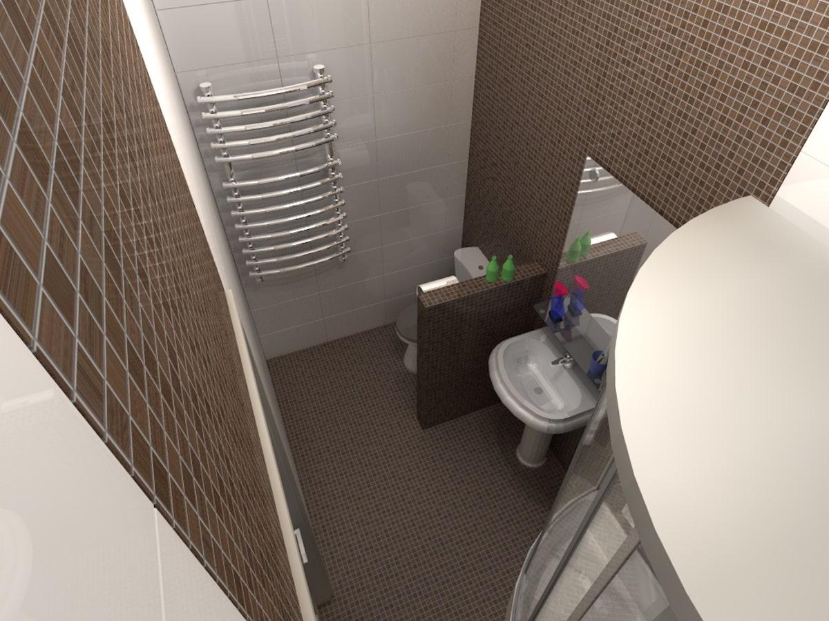 Интерьеры частного дома, 1 этаж, санузел, Рис 3