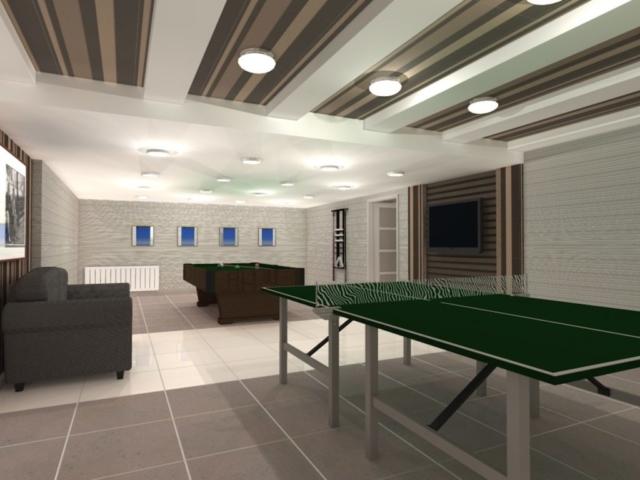 Интерьеры частного дома, 1 этаж, спортзал