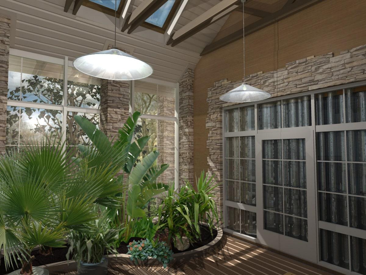 Интерьеры частного дома, 1 этаж, терраса, Рис 2