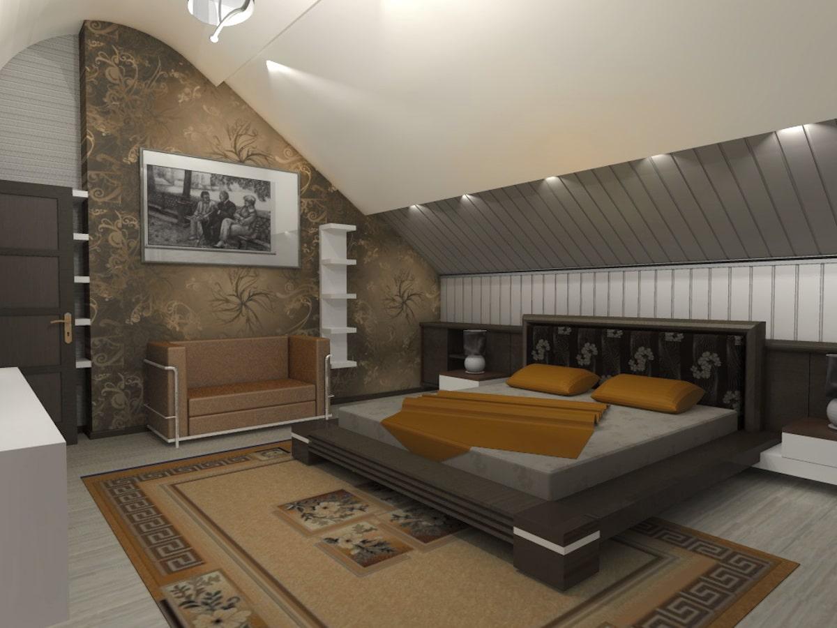 Интерьеры частного дома, 2 этаж, 1 спальня, Рис 1