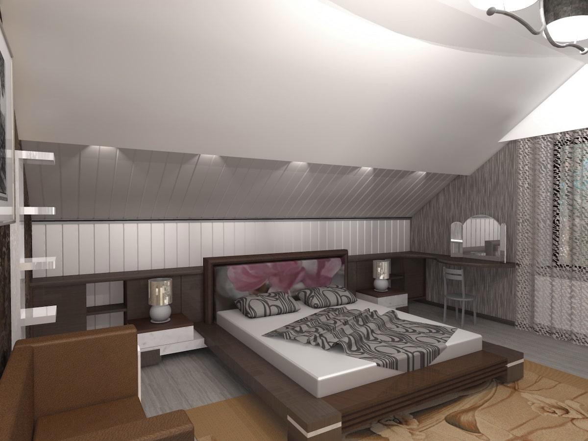 Интерьеры частного дома, 2 этаж, 1 спальня, Рис 2