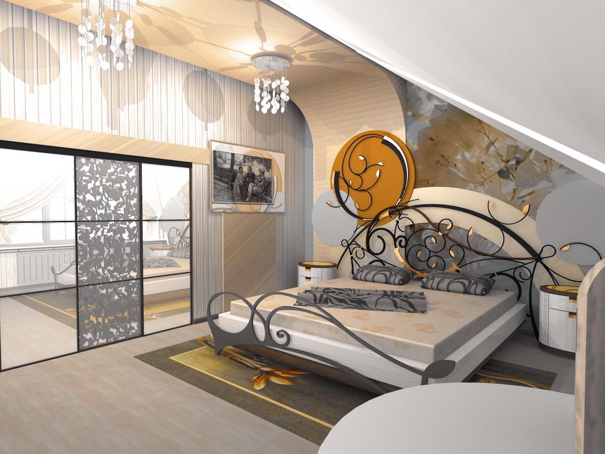 Интерьеры частного дома, 2 этаж, 2 спальня, Рис 1