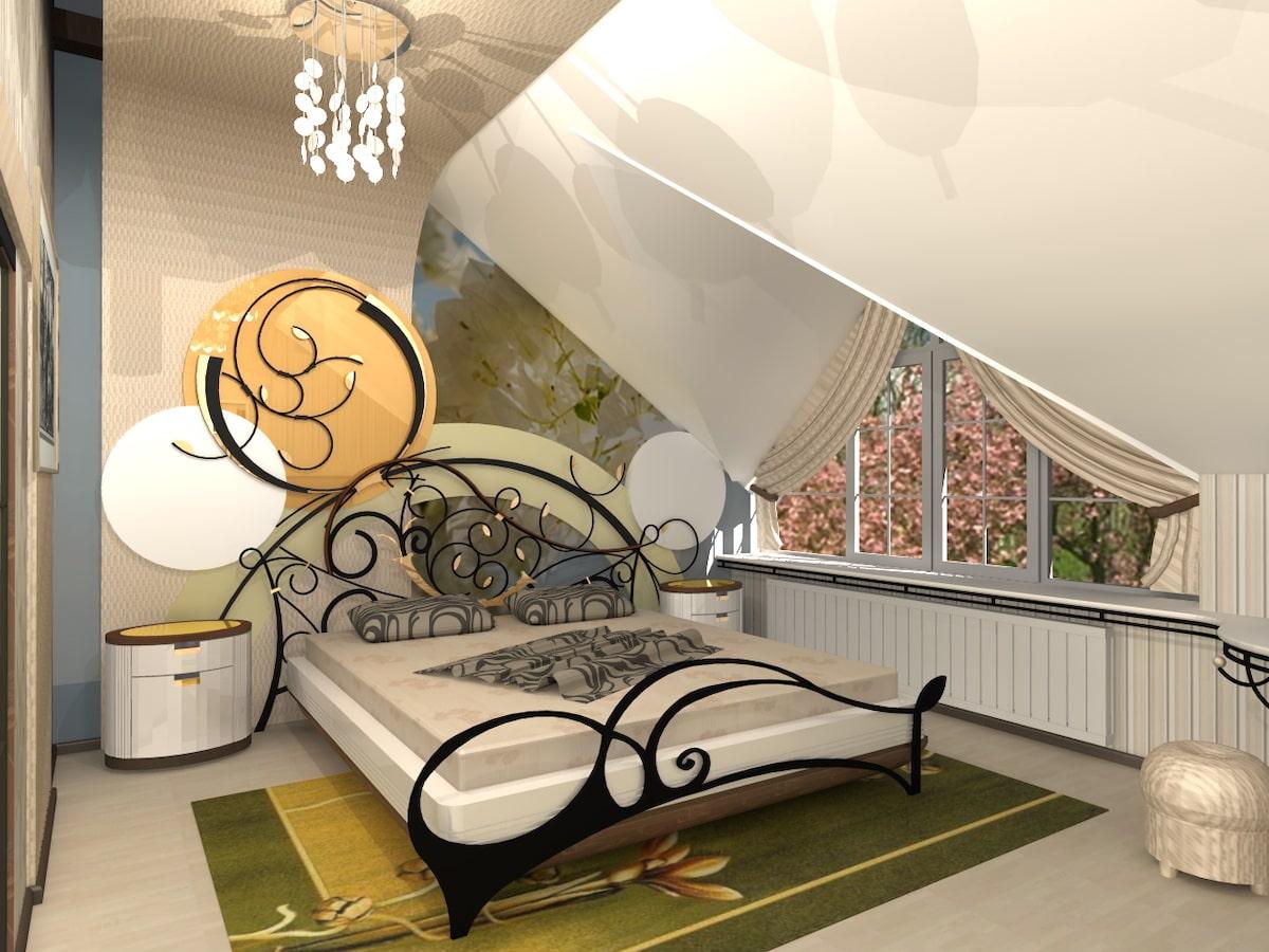 Интерьеры частного дома, 2 этаж, 2 спальня, Рис 2