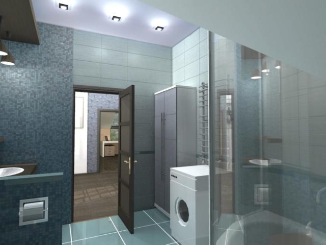 Интерьеры частного дома, 2 этаж, санузел, Рис 1
