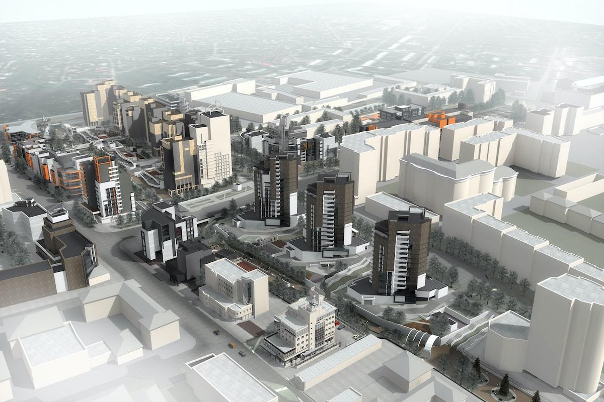 Концепция застройки центра города в рамках ППТ Павловский овраг Рис 1