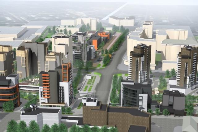 Концепция застройки центра города в рамках ППТ Павловский овраг Рис 8