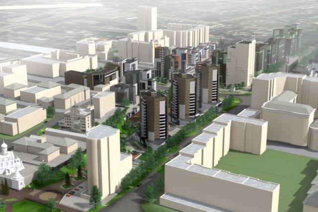 Концепция застройки центра города в рамках ППТ Павловский овраг Рис 9