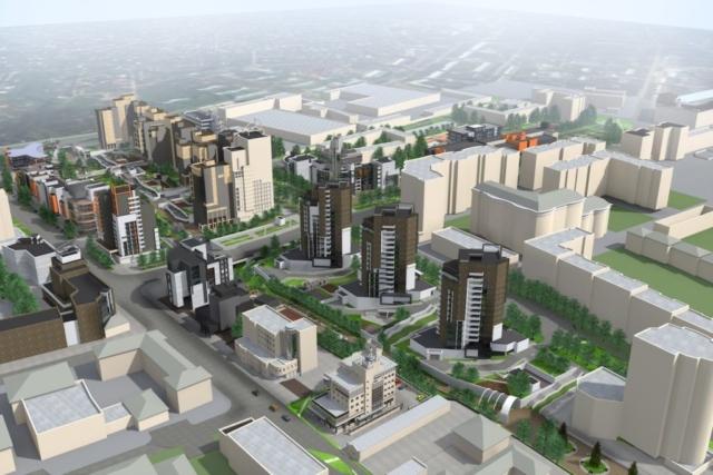 Концепция застройки центра города в рамках ППТ Павловский овраг Рис 7