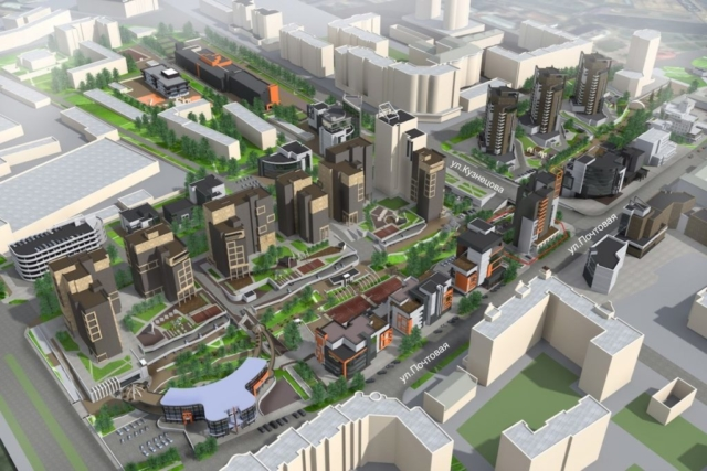 Концепция застройки центра города в рамках ППТ Павловский овраг Рис 6