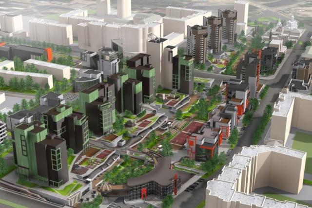 Концепция застройки центра города в рамках ППТ Павловский овраг Рис 5