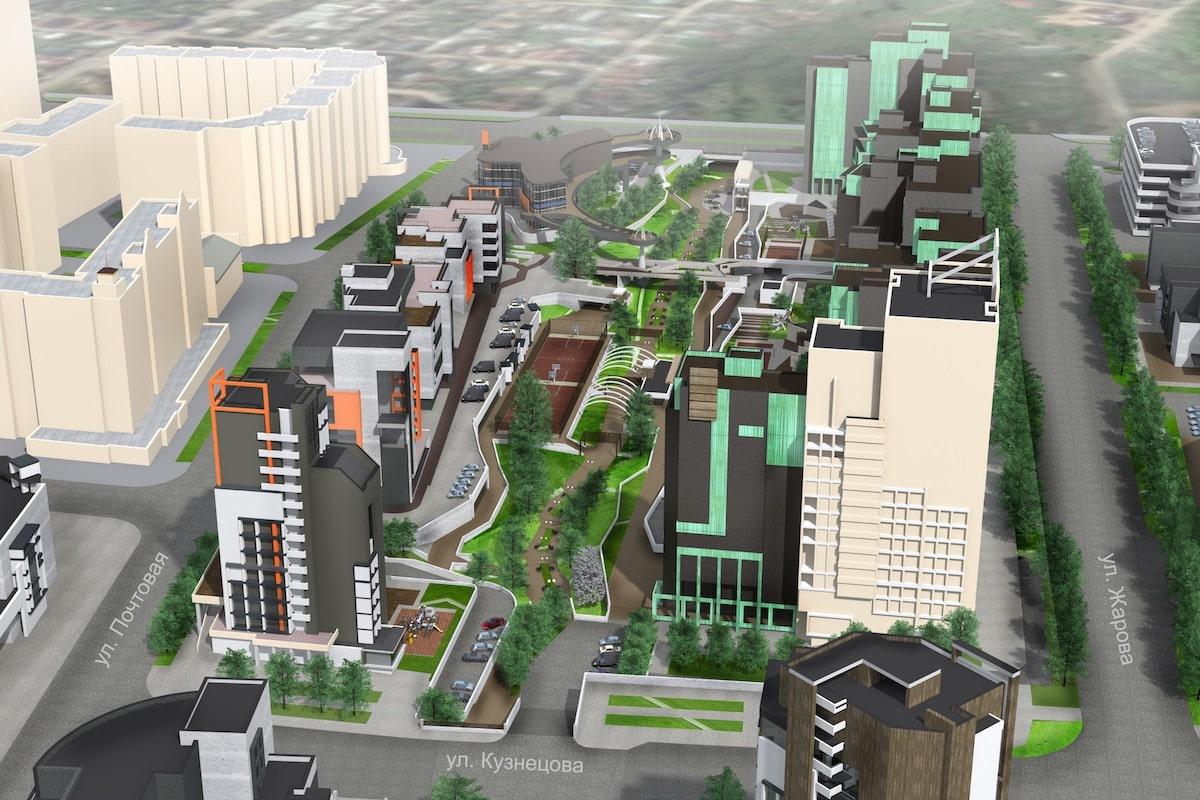 Концепция застройки центра города в рамках ППТ Павловский овраг Рис 4