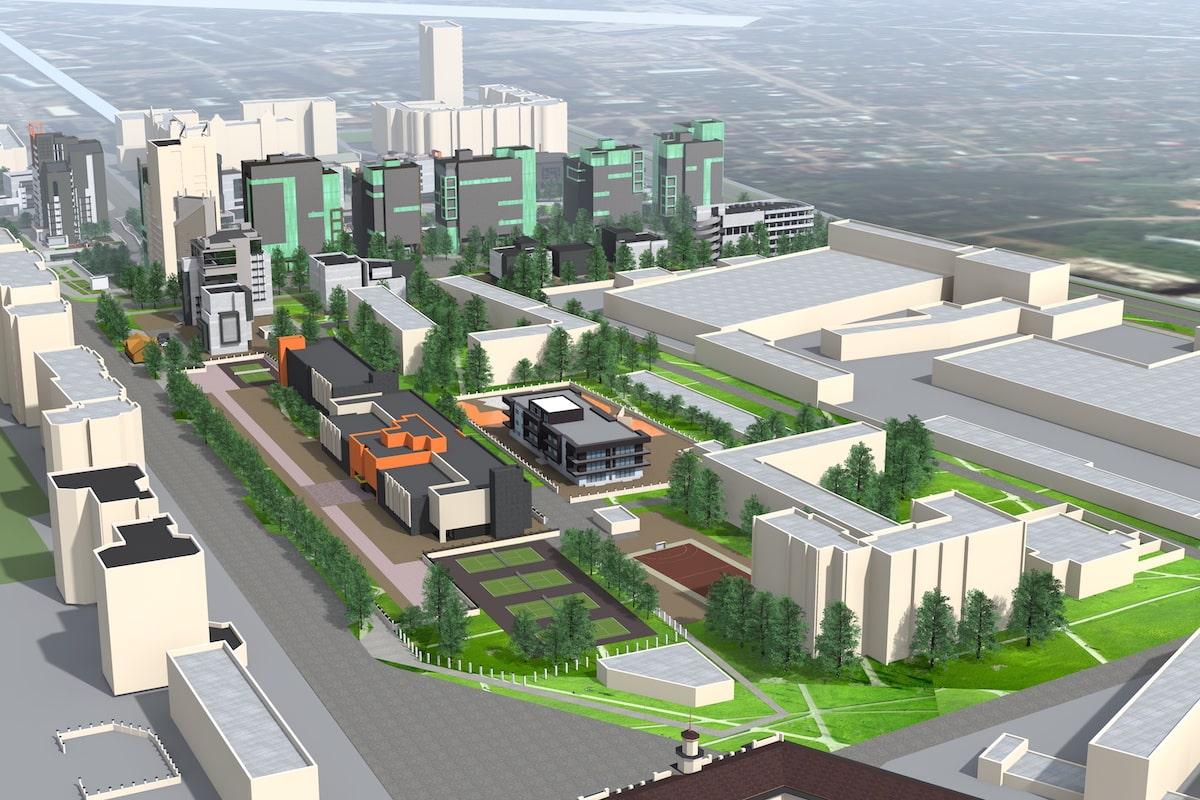 Концепция застройки центра города в рамках ППТ Павловский овраг Рис 3