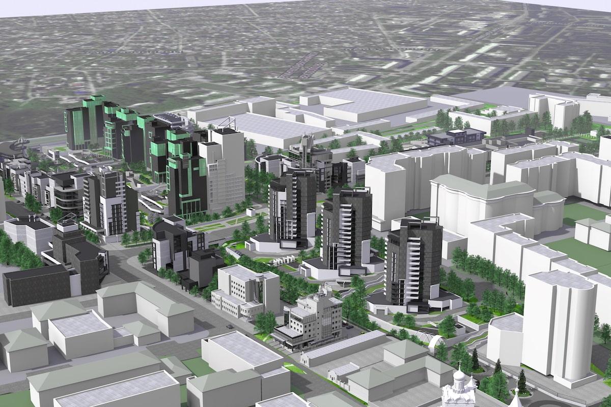 Концепция застройки центра города в рамках ППТ Павловский овраг Рис 2