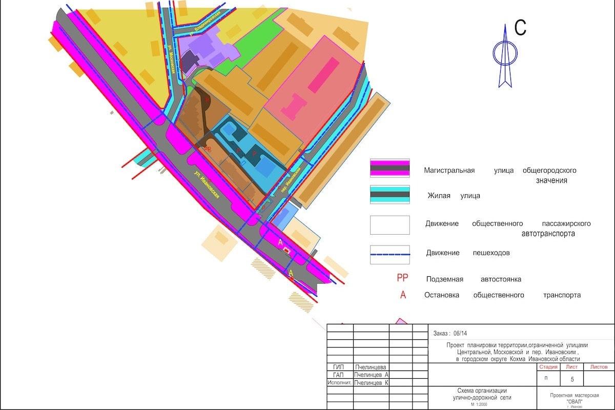 Планировка территории в г. Кохма Ивановской области