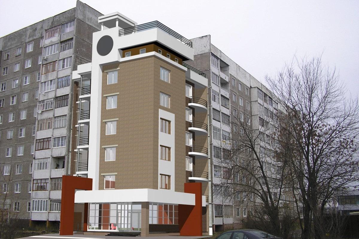 Пристройка многоквартирного жилого дома Рис 1