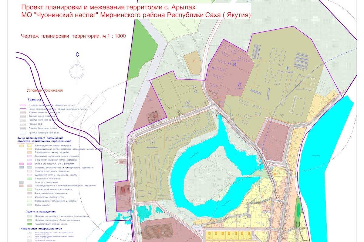 Проект планировки территории с Арылах МО Чуонинский наслег
