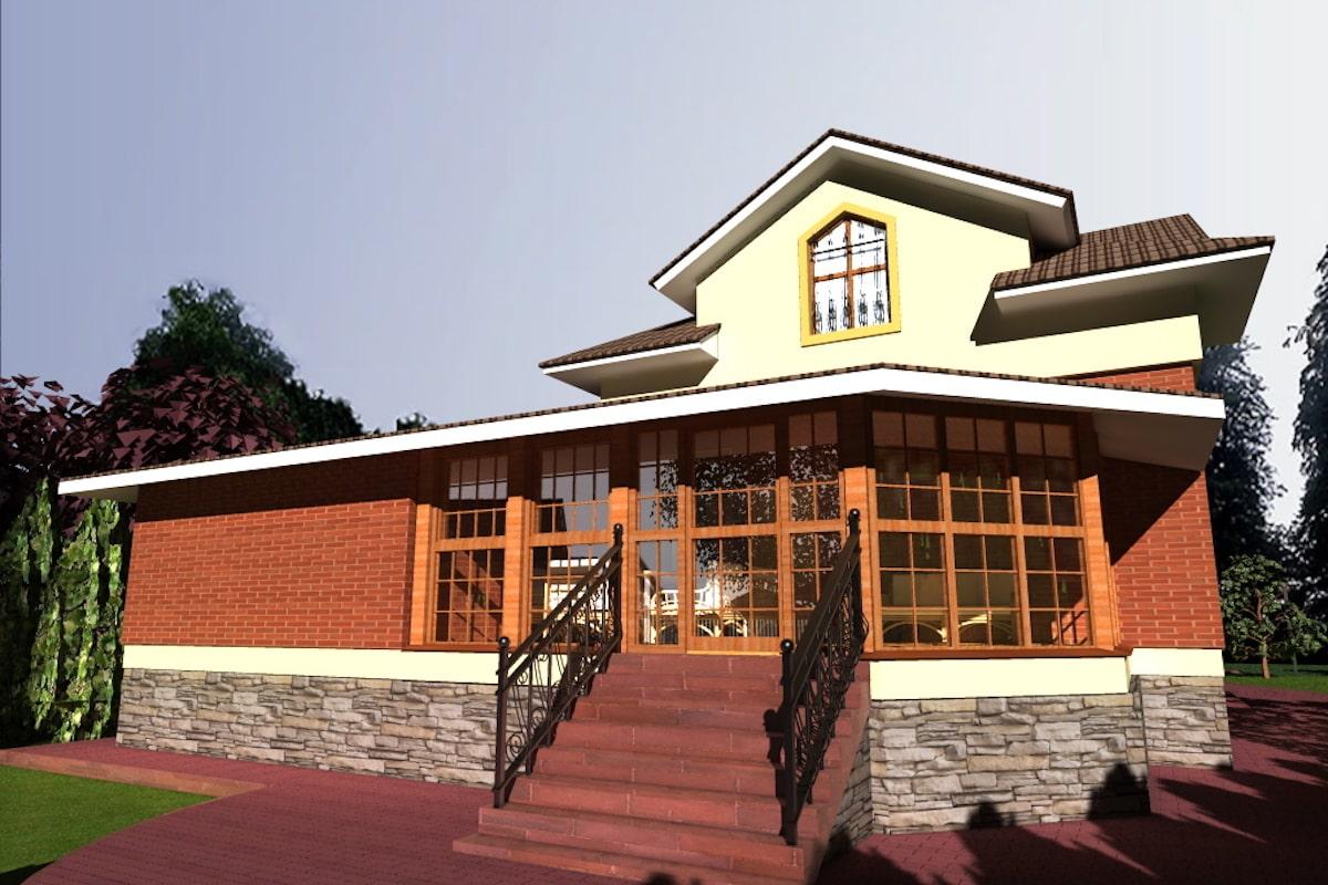 Загородный жилой дом д. Микшино Рис 1